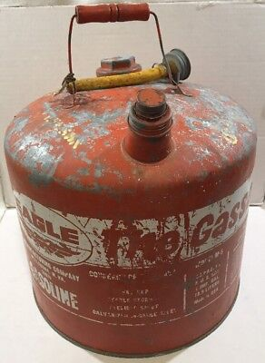 Eagle 5 Gallon The Gasser 505 Galvanized Metal Gas Gasoline Can Vintage Decor Us