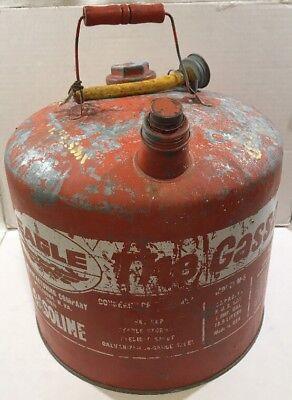 Eagle 5 Gallon The Gasser 505 Galvanized Metal Gas Gasoline Can Vintage Decor Us