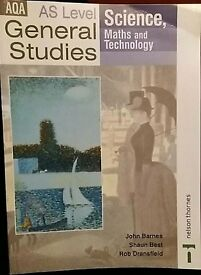 AS General Studies - Science, Maths & Technology 2003