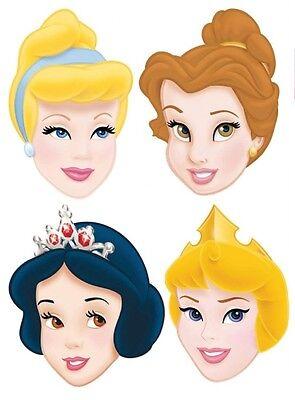 S UP CARD MASKS - FANCY DRESS FACE MASK - Belle Cinderella (Disney Princess Belle Face)