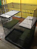 Collapsible Multi-Level Animal Cage 2ft D x 3ft W x 4 ft H