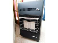 Supawarm 4.2kw Cabinet Heater with nearly full 15kg Calor Gas bottle