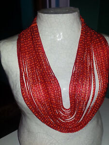 Beautiful Red African Necklace