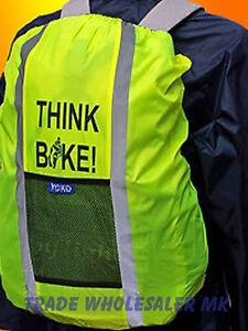 HI-VIS-BACKPACK-RUCKSACK-WATERPROOF-COVER-fits-25ltr-THINK-BIKE-SAFETY