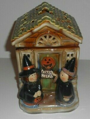 *YANKEE CANDLE HALLOWEEN WARMER HOUSE RONNIE WALTER WAX TART OIL BURNER HOUSE*