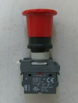 Abb Mcb-01 Contact Block With Red Emergency Stop Switch