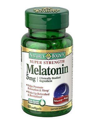 Nature's Bounty Melatonin 5 mg Softgels 60 Soft Gels