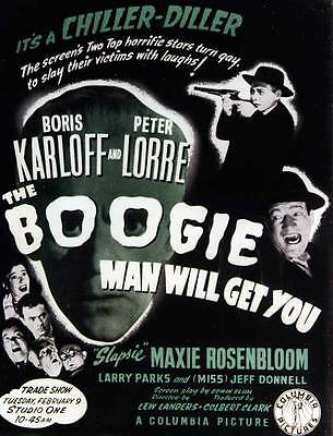 THE BOOGIE MAN WILL GET YOU Movie POSTER 27x40 C](Boogie Man Movie)
