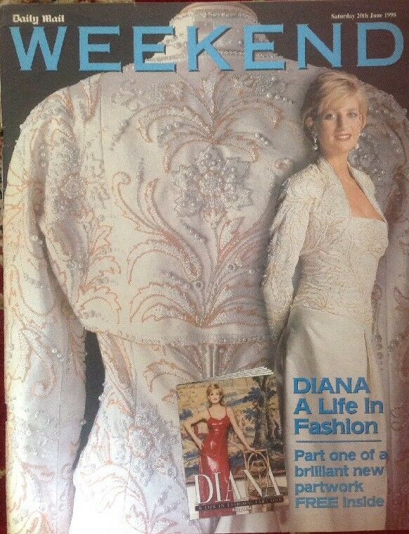PRINCESS DIANA 1997 LIFE IN FASHION 6 MAGAZINE SET COMPLETE!