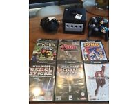 Gamecube 6 games 2 controllers and all wires.