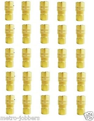 "25 Pack MILTON 715 Air Hose Couplers M style 1/4"" Female NPT Threads"