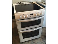Freestanding Cooker with Double Oven and Electric Hob (New World 60ECHDGm)