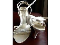 Satin wedding sandals size 5
