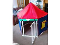 Baby Dan hexagonal playpen, base mat and tent cover.