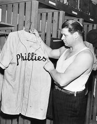 Jimmie Foxx Tries On His Phillies Uniform 8X10 Photo