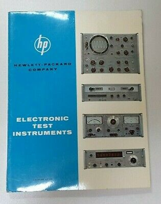 Rare Vintage Hp Hewlett-packard 1964 Test Equipment Catalog Book 24