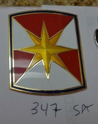Combat Service Id Badge   347Th Support Brigade  For Wear On Asus And Dress Blue