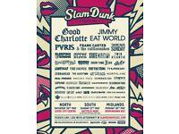 Slam dunk festival tickets x2 Sunday