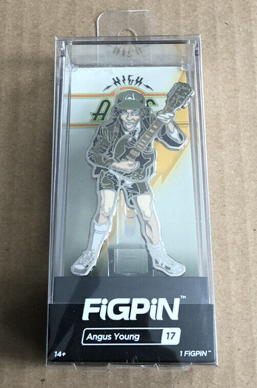BRAND NEW FiGPiN Angus Young AC/DC High Voltage Enamel Pin In Hard Case #17