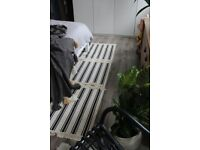 Striped Fringed Moroccan Style Hall Runner Rug IKEA Upcycled
