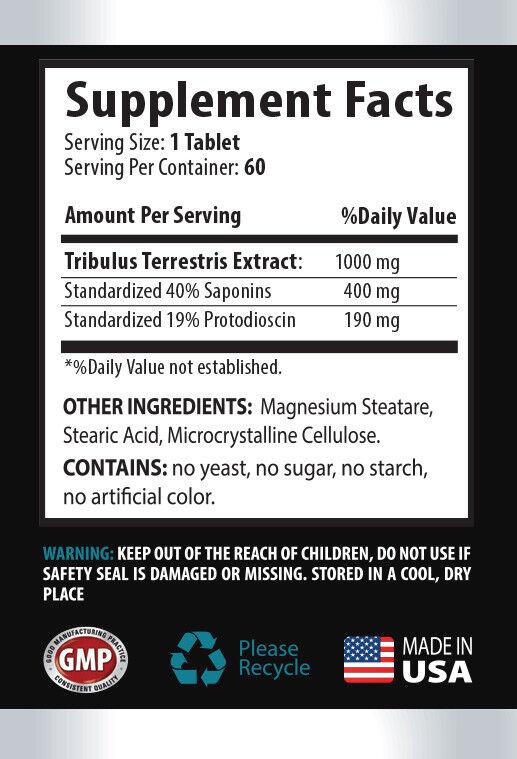tribulus standard process - TRIBULUS TERRESTRIS - testosterone booster - 60 Tabs 1