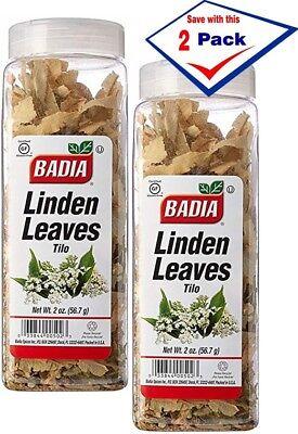 2 Pack - Badia Linden Leaves 2 oz each large jars (Te de Tilo) Large Leaf Tea