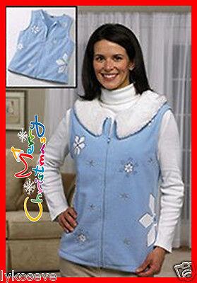 winter vest LETIT SNOW LET IT SNOW  BUT KEEP WARM NEW  XLARGE WOMANS & MED LEFT