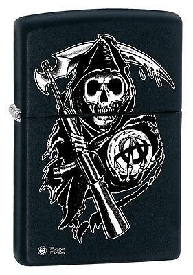 Zippo Lighter  Sons Of Anarchy  Grim Reaper   Black Matte 28504
