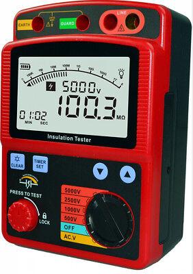 High Voltage 5kv Insulation Resistance Tester Meter Megger 1t Ohm Dar Pi Gm3125