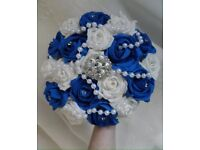 Royal blue and white bouquet