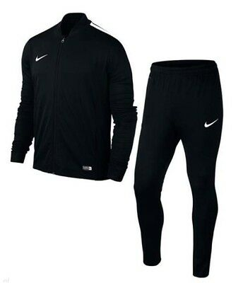 Nike Boys Tracksuit Kids Full Zip Jogging Suit Junior Football Top Bottoms Black