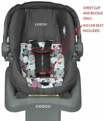 Cosco Car Seat Accessories - Cosco Light N' Comfy DX Baby Car Seat Harness Chest Clip & Buckle Set Vehicle