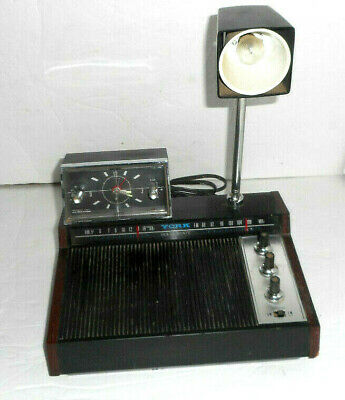 VINTAGE YORK ENTERTAINMENT CENTER RADIO WITH CLOCK AND LIGHT MODEL DCR-92