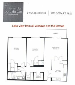 Water view 2-bedroom in lakeshore Pointe Claire for rent