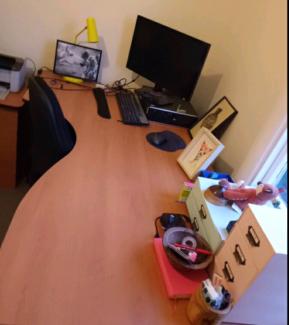Office furniture - desk,  shelf,  draws