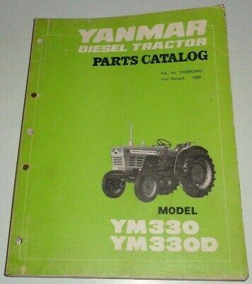 Yanmar Ym330 Ym330d Diesel Tractor Parts Catalog Manual Book Original 380