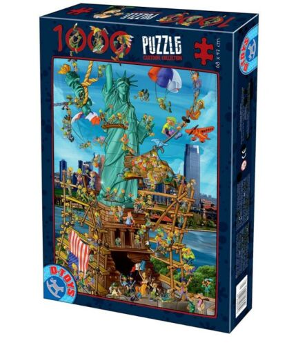 D-Toys 1000 Piece Puzzle - Cartoon Collection New York