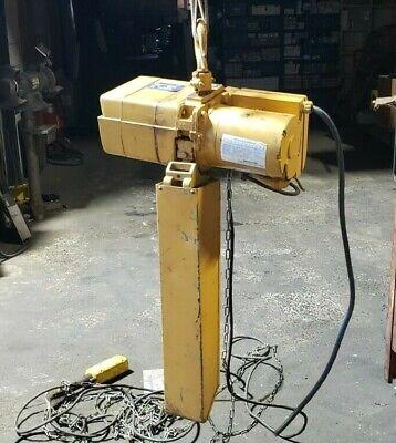 Acco Wright-way 1 Ton Electric Chain Hoist 36 Ft Chain Pendant 460 Vac 2101361