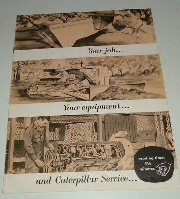 Caterpillar Equipment Service Repair Sales Brochure Original Cat Crawler Engine