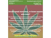 Paid participants required for a study into cannabis use and future thinking
