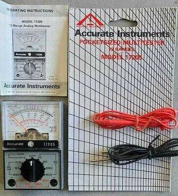 Nos Analog Multi-tester Analogue Meter Multimeter Ohm. Electrical Circuit Tester