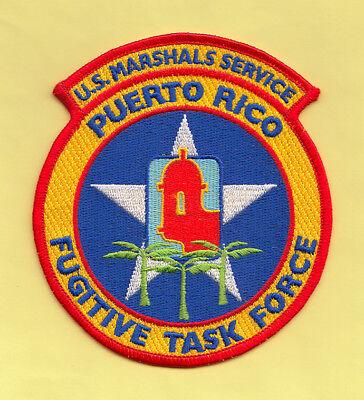 C27 * PUERTO RICO USMS VIOLENT FUGITIVE FEDERAL POLICE PATCH SWAT ATF DEA TASKFO