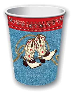 PAPER CUP COWBOY RODEO BARN DANCE WESTERN THEMED PARTY DECORATIONS - Barn Dance Decor