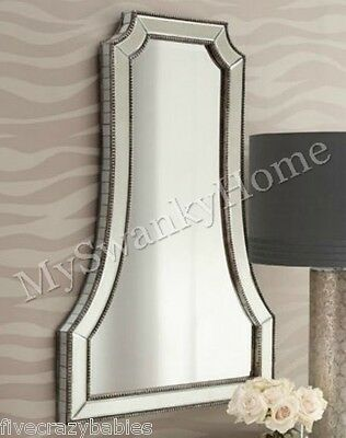 "Large Neiman Marcus 40"" Venetian Wall Mirror Glass Vanity Arch HORCHOW Cattaneo"
