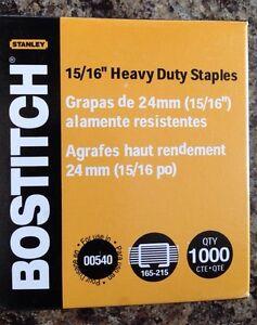 "2 boxes- Stanley Bostitch Heavy-Duty Staples, 15/16"""