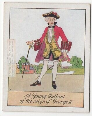Young Male Gallant Clothes Style King George II Era  England 1920s Trade Card