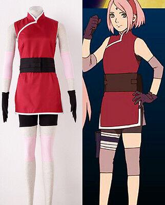 NARUTO Haruno Sakura Cosplay costume Kostüm manga cartoon anmie Movie the - Haruno Sakura Kostüm