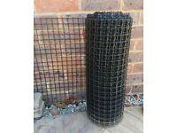 Black plastic garden mesh 50cm wide