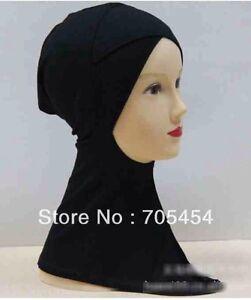 Muslim Hijab Styling Full Cover Under Scarf Ninja Inner Plain Hat Cap Bonnet,