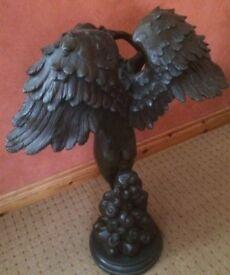 Solid Bronze 'Descending Angel' Statue/Sculpture